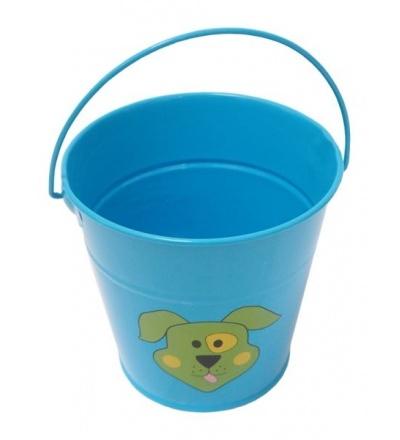 REFLEX dětské zahradní nářadí - vědro, kovové, modré, 1,2 l 307186