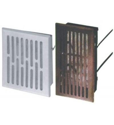 REFLEX mřížka větrací,kovová,hnědá,hranatá,se síťkou,155x155/140x140mm,vývod 130x130mm 600953