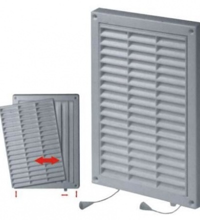 REFLEX mřížka větrací,plastová,bílá,hranatá,se síťkou a žaluzíí,235x165/210x140mm,vývod 197x128mm 600822