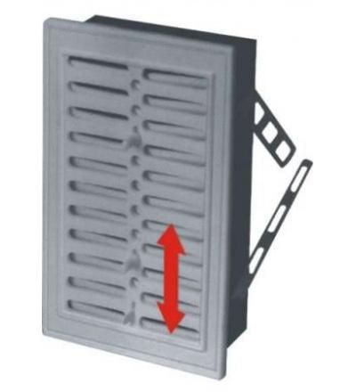 REFLEX mřížka větrací,plastová,bílá,hranatá,se žaluzií,230x160/210x140mm,vývod 207x137mm 600820