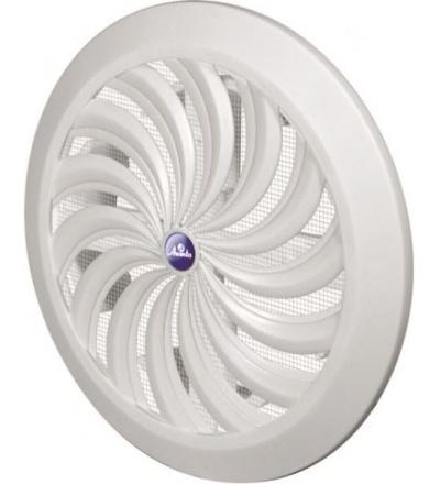 REFLEX mřížka větrací,plastová, bílá, kulatá, vějířové žebrování se síťkou, O 135 / 110 mm 600844
