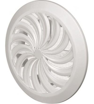 REFLEX mřížka větrací,plastová,bílá,kulatá,vějířové žebrování se síťkou,vývod,O 180/100-150mm 600847