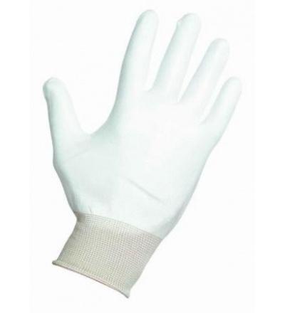 Rukavice nylonové, s PU dlaní a úpletem 600147
