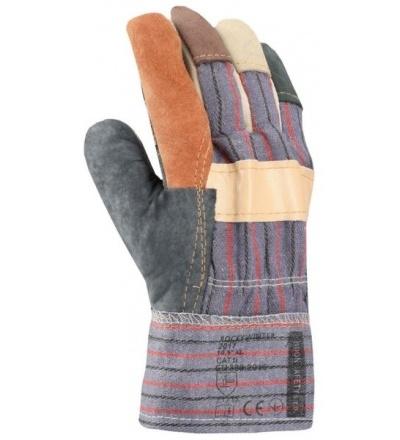 Rukavice pracovní, kožené, zimní 600125