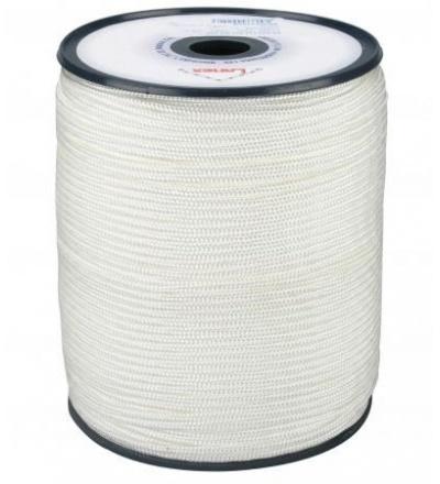 šňůra pletená, PA, s jádrem,  O 4 mm x 200 m, Lanex 405002