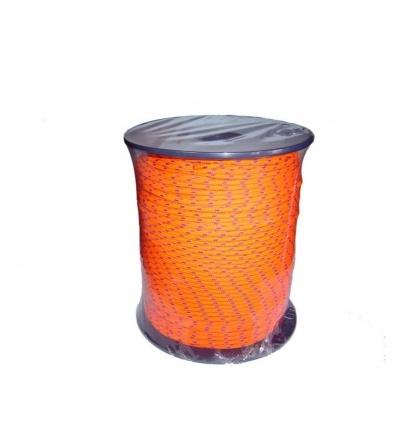 šňůra pletená, PES, bez jádra, O 4 mm x 200 m, Lanex 405012