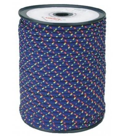 šňůra pletená, PES, s jádrem, O 6 mm x 100 m, Lanex 405013