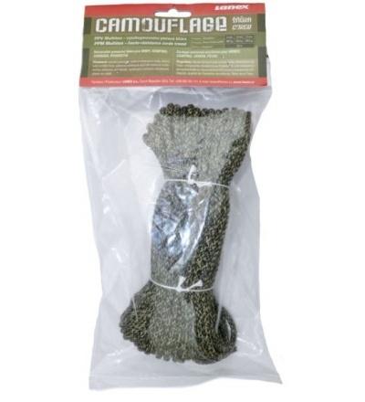 šňůra pletená, PPV, camouflage, bez jádra, O 4 mm x 20 m,, Lanex 405077