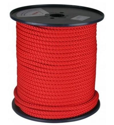 šňůra pletená, PPV kružberk, bez jádra, O 6 mm x 100 m, Lanex 405039