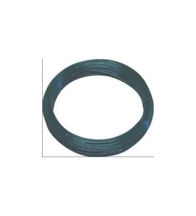 TOPTRADE drát napínací, poplastovaný, zelený, O 4,2 mm / 51 m 702007