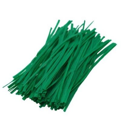 TOPTRADE drát ocelový, poplastovaný, zelený, 100 ks, 0,4 x 200 mm 307024