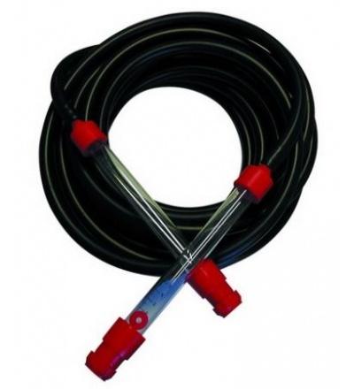 TOPTRADE hadice nivelační, pryžová, černá, sada, 2 ks trubice plast, 15 m 900542