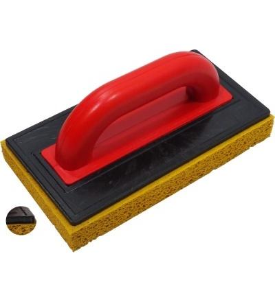 TOPTRADE hladítko ABS, platko 5 mm, houba jemná, 250 x 130 x 30 mm 106486