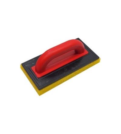 TOPTRADE hladítko ABS, platko 5 mm, molitan hrubý, 250 x 130 x 20 mm 106476