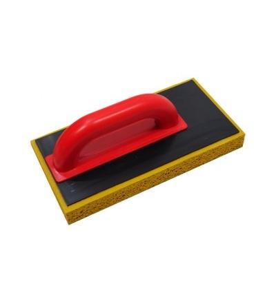 TOPTRADE hladítko ABS, posunuté, houba jemná, 280 x 140 x 30 mm 106586
