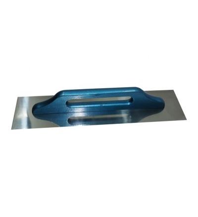 TOPTRADE hladítko nerezové, s dřevěnou rukojetí, hladké, 500 x 130 mm, standard 109061