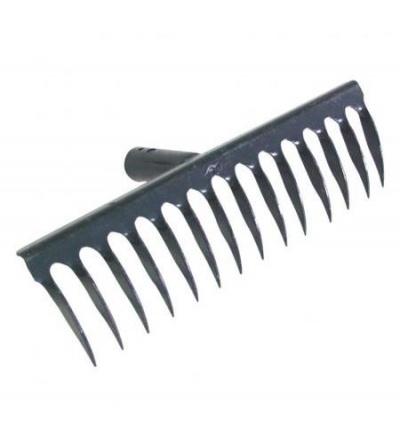 TOPTRADE hrábě kovové,kolmý zub, 14 zubů, profi 105444