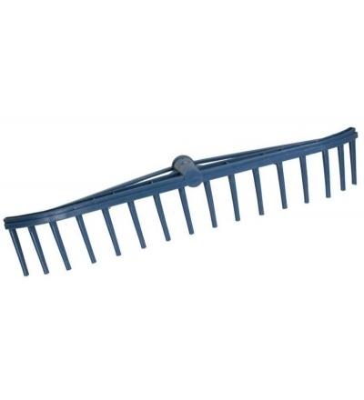 TOPTRADE hrábě Longbow, plastové, s tulejí, 16 zubů 108059