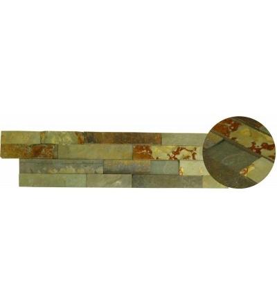 TOPTRADE kámen přírodní, surový, tmavě hnědý, balení 0,63 m2, 150 x 600 x 15 -25 mm 902001
