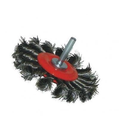 TOPTRADE kartáč ocelový, obvodový, copy, stopka, O 6 / 75 mm 600473