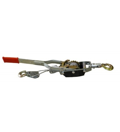 TOPTRADE kladka ruční, páková, hák a lano, O 5,5mm x 3 m, nosnost 4 t 707107