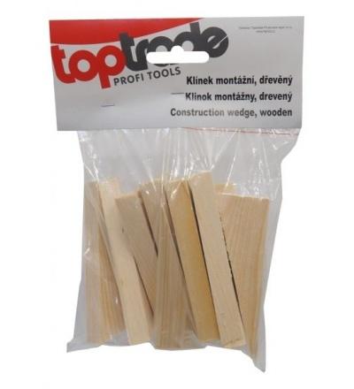 TOPTRADE klínky dřevěné, montážní, balení 15 ks, 150 x 20 x 50 - 1 mm 108117