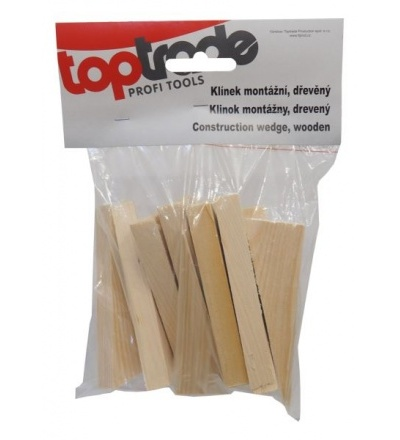 TOPTRADE klínky dřevěné, montážní, balení 30 ks, 100 x 20 x 23 - 1 mm 108115