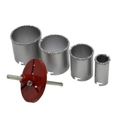 TOPTRADE korunky vykružovací, na keramickou dlažbu, O 33/53/73/83 mm 107267
