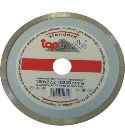 TOPTRADE kotouč diamantový, celoobvodový, 180 x 22.2 x 7 mm, standard 504015