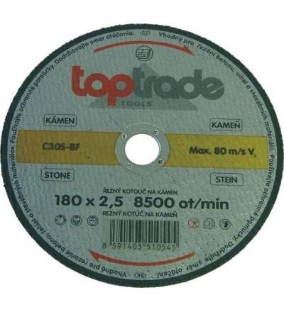 TOPTRADE kotouč řezný, na kámen, 180 x 22,2 x 2,5 mm, profi 501014