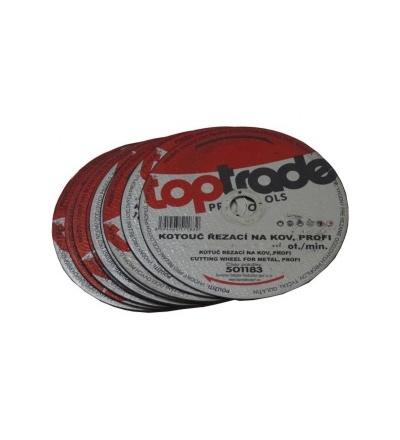 TOPTRADE kotouč řezný, na kov, 115 x 22,2 x 1 mm, profi 501180