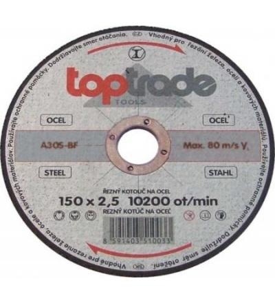 TOPTRADE kotouč řezný, na kov, 115 x 22,2 x 2,5 mm, hobby 501150