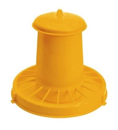 TOPTRADE krmítko plastové, tubusové, pro drůbež, 10,5l 308074