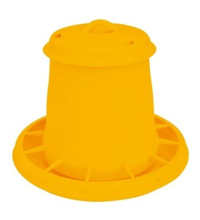 TOPTRADE krmítko plastové, tubusové, pro drůbež, 5,5l 308073