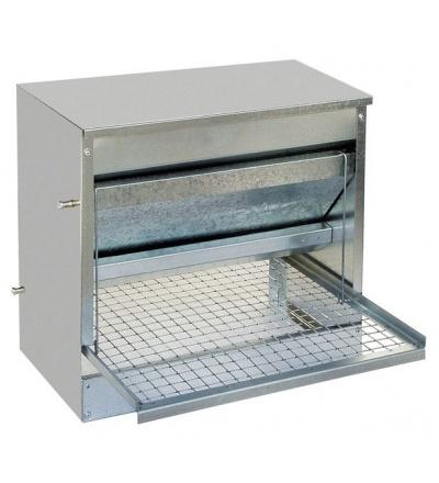 TOPTRADE krmítko pozinkované, nášlapné, automatické, pro slepice, 10kg 308115