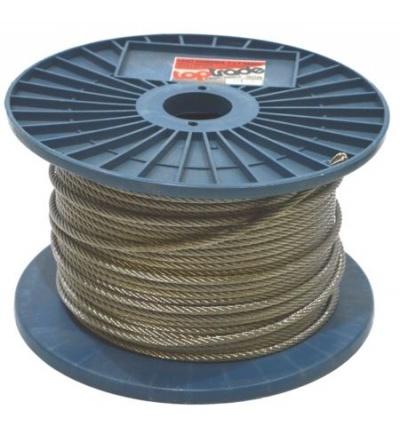 TOPTRADE lano nerezové, na cívce, 7 x 7 drátů, O 1,5 mm x 300 m 707137