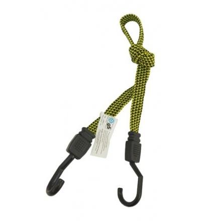 TOPTRADE lano pryžové s textilním opletem a plastovými háky, 18mm x 80 - 180cm, 20kg   405126