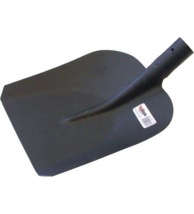 TOPTRADE lopata ocelová, stájová, standard, černý lak 105324
