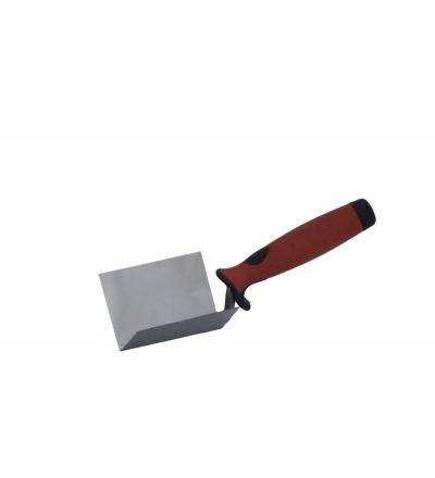 TOPTRADE lžíce nerezová, štukatérská,koutová, 60 x 60 mm 106063