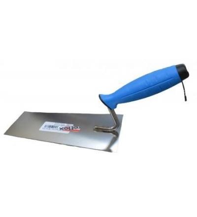 TOPTRADE lžíce zednická, nerezová, 140 mm, profi 109131