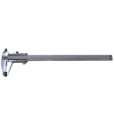 TOPTRADE měřidlo posuvné, kovové,  s aretací, s přesností 0,02 mm, stupnice nonius, 150 mm 500120