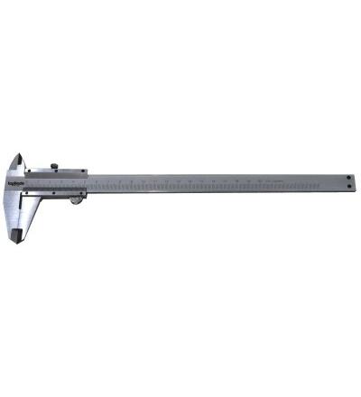 TOPTRADE měřidlo posuvné, kovové,  s aretací, s přesností 0,02 mm, stupnice nonius, 200 mm 500121