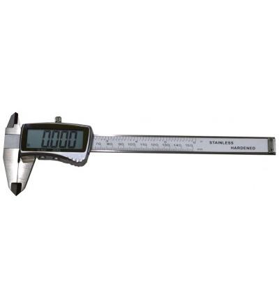 TOPTRADE měřidlo posuvné, kovové,  se spodní brzdou, s přesností 0,02 mm, digitalní, 150 mm 500124