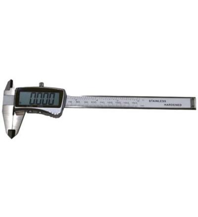 TOPTRADE měřidlo posuvné, kovové,  se spodní brzdou, s přesností 0,02 mm, digitalní, 200 mm 500125