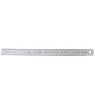 TOPTRADE měřítko nerezové, planžetové, 0,7 x 300 mm 500130
