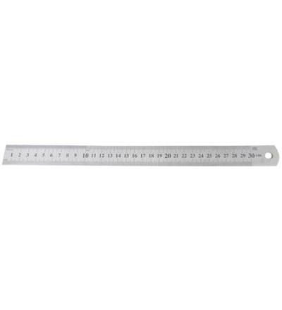 TOPTRADE měřítko nerezové, planžetové, 1,2 x 1000 mm 500132