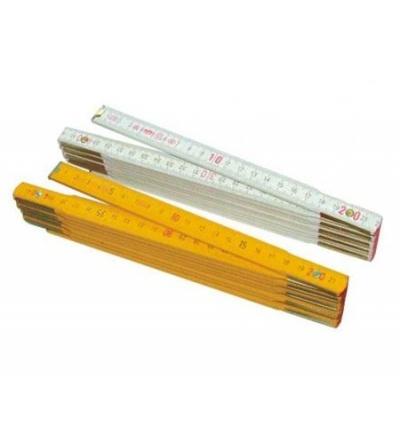TOPTRADE metr skládací, dřevěný, bílý, 2 m, standard 500103