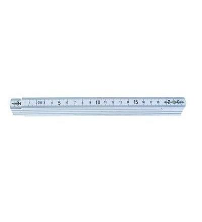 TOPTRADE metr skládací, plastový, bílý, 2 m, standard 500106