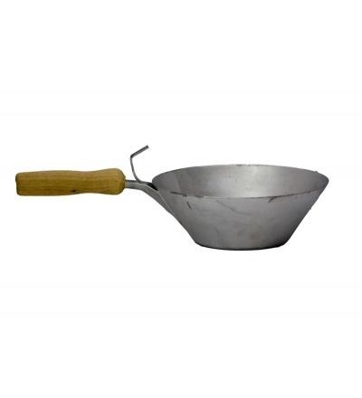 TOPTRADE naběračka s rukojetí, ocelová, O 210 mm 105162