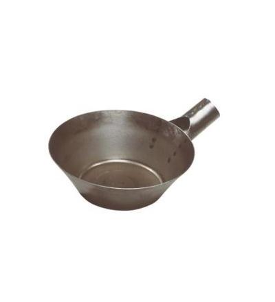 TOPTRADE naběračka s tulejí, ocelová, O 210 mm 105163